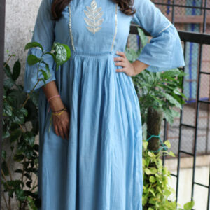 women's wear MulMul Cotton Gotta Leaf Kurti