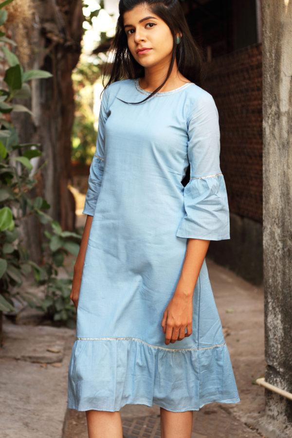 Women's Flounce MulMul Cotton Midi Dress