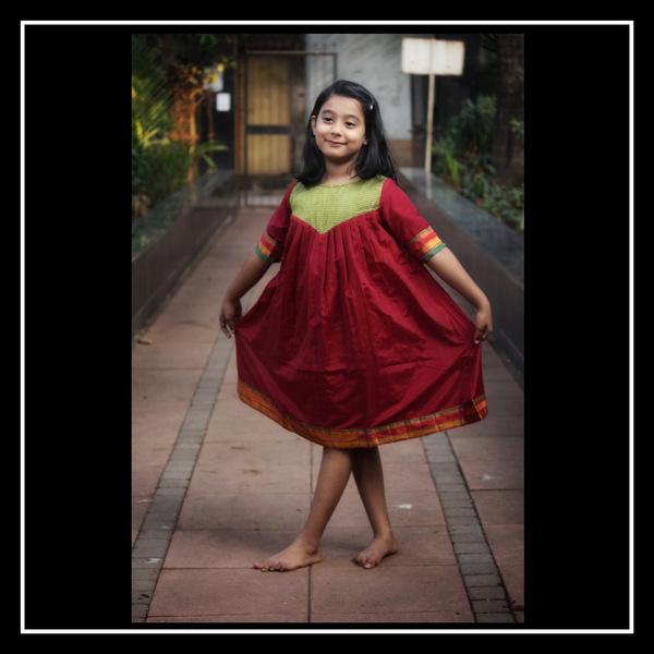Pleated Flare Dress