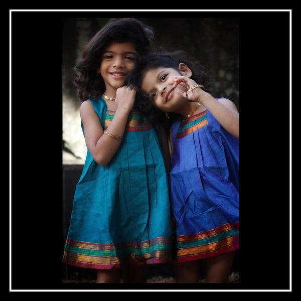 Box pleat Kids Dress