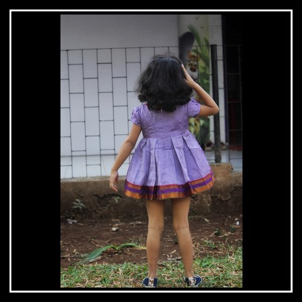 box pleat cotton dress