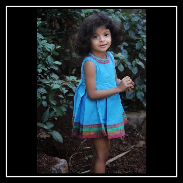 side pleat cotton dress