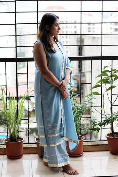 Women's MulMul cotton Gota suit set