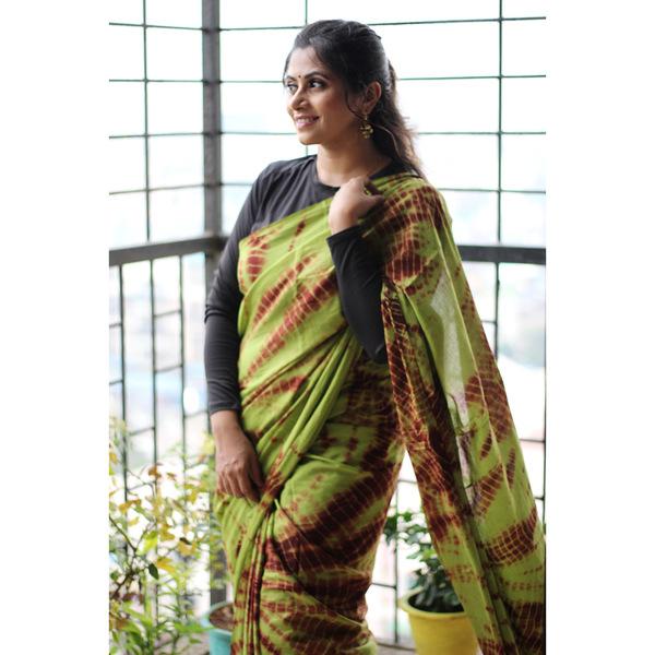 MulMul Cotton Shibori Saree