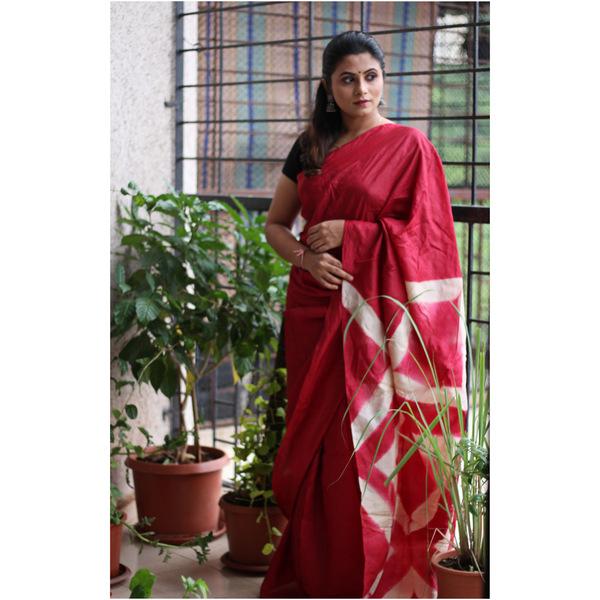 Tussar Silk Shibori Saree