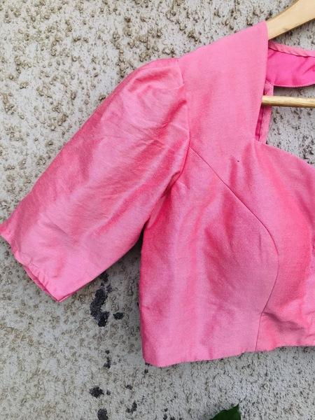Light Pink Sweet Heart Neck Blouse