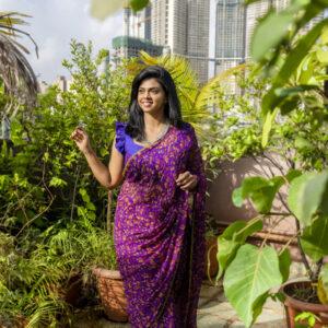 Floral Pure Chiffon Saree